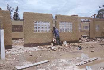 Reconstruction en Haïti après la tempête tropicale Jeanne