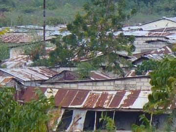 Dégâts causés par le cyclone Isaac sur Cité Soleil