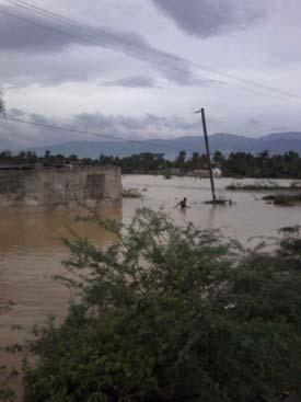 Dégâts causés par le cyclone Isaac sur La Plaine Fourgy