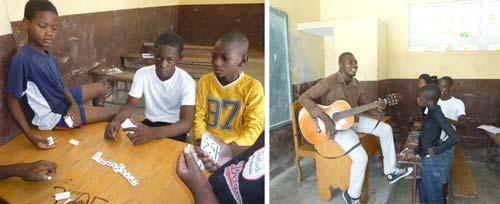 Pendant les vacances, les enfants du bidonville de Cité Soleil bénéficient d'activités variées dans le cadre du Club d'été à l'école St Alphonse en Haïti