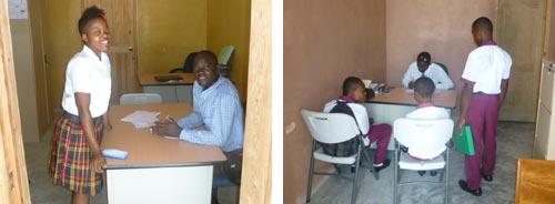Les nouveaux bureaux des professeurs de l'école St Alphonse à Cité Soleil en Haïti