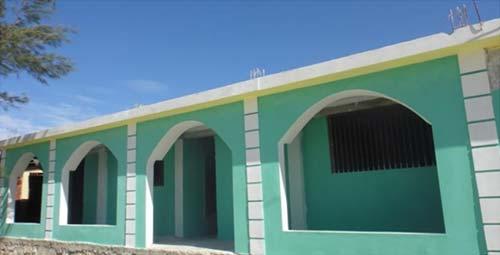 Bâtiment du secondaire reconstruit après le séisme, école St Alphonse Cité Soleil