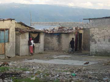 Bidonville de Cit� Soleil en Ha�ti