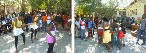 Fête de Noël à l'école St Alphonse à Cité Soleil en Haïti