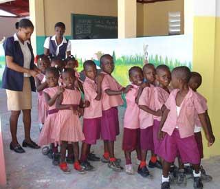 Les enfants de la setction préscolaire - Ecole St Alphonse, Cité Soleil, Haïti