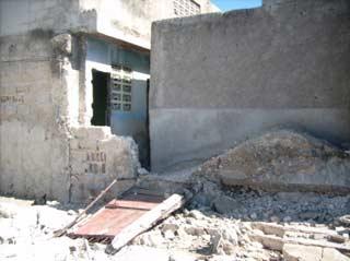 Ecole St Alphonse très endommagée lors du séisme du 12 janvier 2010 en Haïti