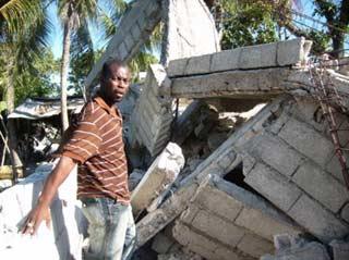 Maison de Cité Soleil en Haïti détruite par le séisme