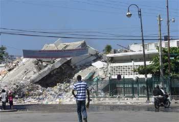 Séisme en Haïti, Port au Prince sinistrée