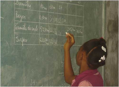 Travail scolaire à Cité Soleil en Haïti