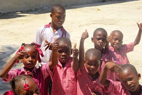 Timouns du bidonville de Cité Soleil à Porte au Prince en Haïti
