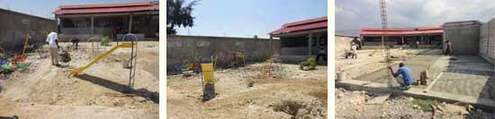 Aménagement de la cour du Préscolaire - Ecole St Alphonse, Cité Soleil, Haïti