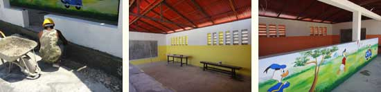 Peinture et finitions de la section Préscolaire - Ecole St Alphonse, Cité Soleil, Haïti