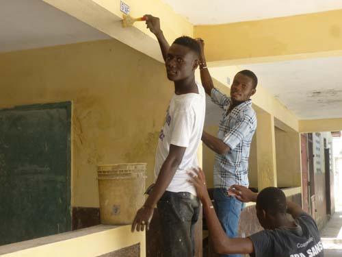 Travaux de rénovation de l'école St Alphonse en Haïti