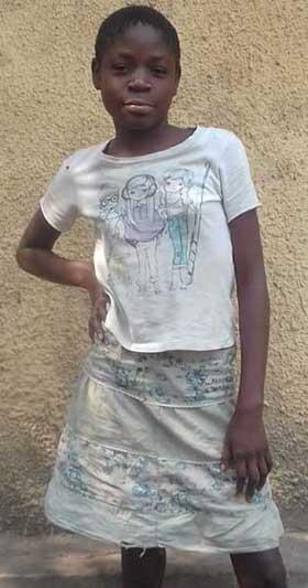 Christel, 2000ème enfant des rues réinsérée en famille par le Centre Ndako Ya Biso à Kinshasa