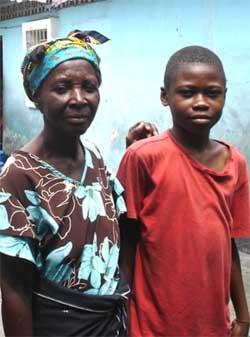 Enfant de la rue à Kinshasa