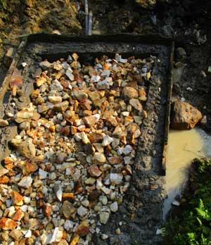 Construction d'un bassin ddécanteur pour l'aménagement d'une source d'eau potable Kabweke au Nord Kivu en RD Congo
