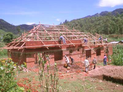 Construction du centre hospitalier de Lukanga au Nord Kivu, RD Congo
