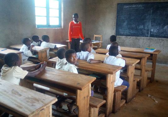 Les élèves de 4ème année de l'école primaire de Visiki en RD Congo.