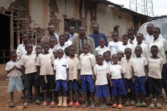 Ecoliers de Kirumba, populations déplacées au Nord Kivu, RD Congo