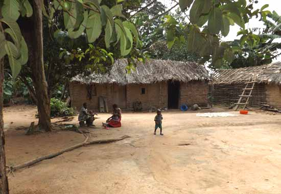 Habitation traditionnelle du Nord Kivu en RD Congo, Village de Kabweke