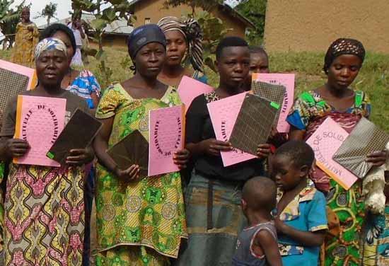 Femmes membres d'une Mutuelle de Solidarité MUSO au Nord Kivu, RD du Congo