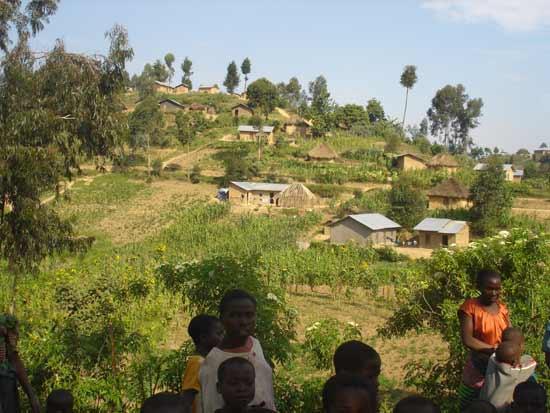 Village du Nord-Kivu en République démocratique du Congo