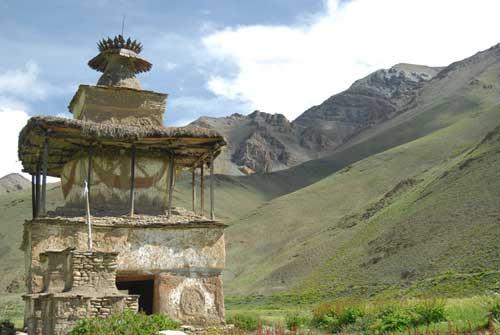 Gompa d'un village tibétain du Haut Dolpo au Népal