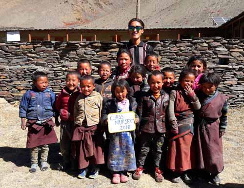 Enfants du Tibet, élèves de la nursery de l'école de Ting Kyu au Népal promotion 2012