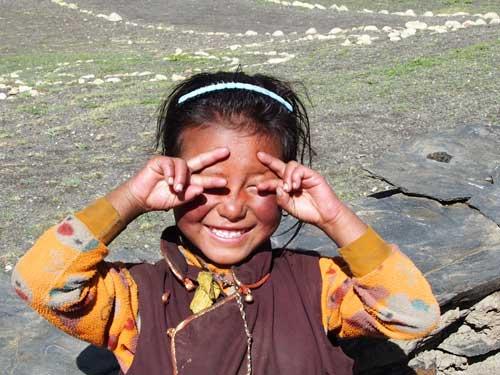 Sourire d'enfant tibétain, Haut Dolpo, Népal