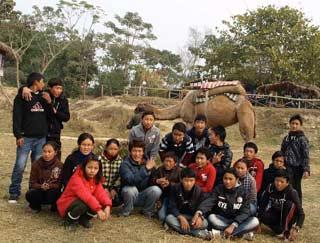 Les collégiens du Haut Dolpo à Katmandou