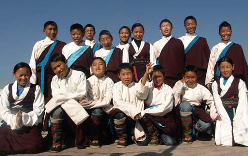 Collégiens de Katmandou