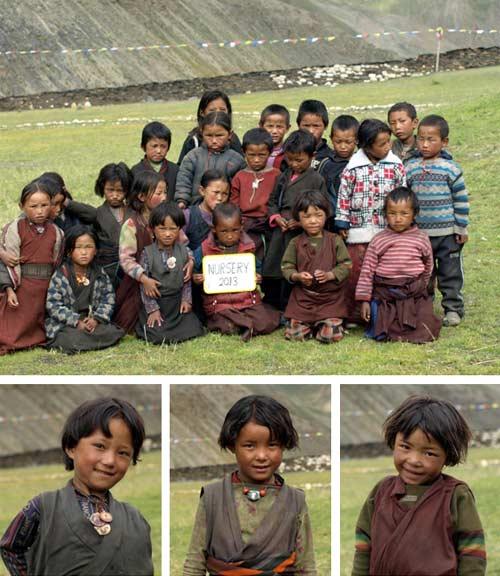Enfants du Tibet, nursery de l'école de Ting Kyu au Népal promotion 2012