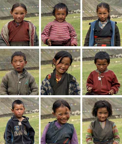 Enfants du Tibet, les élèves de la nursery de l'école de Ting Kyu au Népal promotion 2013