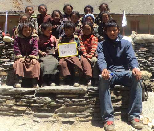 Enfants du Tibet, nursery de l'école de Ting Kyu au Népal promotion 2014