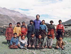 Les élèves de la classe 2, école dans le Haut Dolpo au Népal