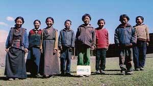 Ecole de Ting Kyu pour enfants Tibétains au Népal, classe 3