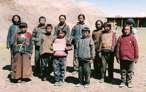 Ecole de Ting Kyu pour enfants Tibétains au Népal, classe 4