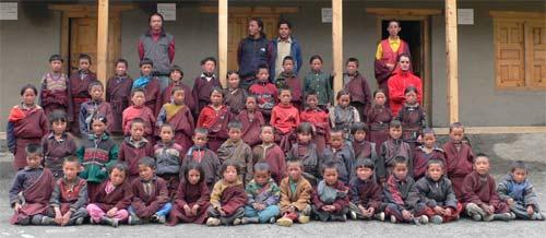 Les élèves de la Kula Mountain Schooldans le Haut Dolpo au Népal