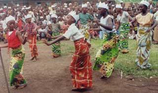Rassemblement des orphelins du sida