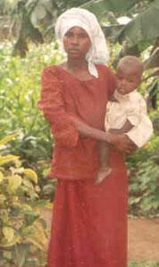 Jeune mère et son bébé au Rwanda