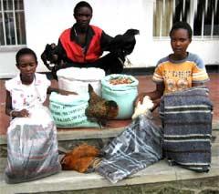 Distribution des cadeaux solidaires aux orphelins du sida