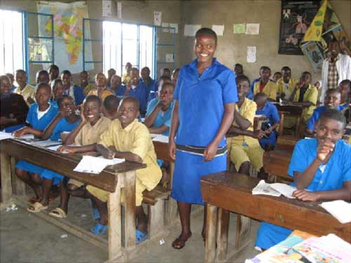 Une classe d'une école primaire de Gisenyi au Rwanda