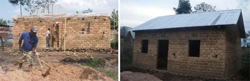Construction d'une maison pour une famille très vulnérable au Rwanda