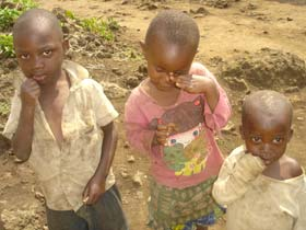 Enfants vulnérables, futurs enfants des rues de Gisenyi au Rwanda
