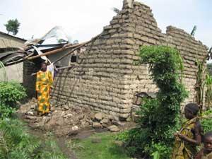 Gisenyi, maison détruite par la tornade du 28 septembre 2008