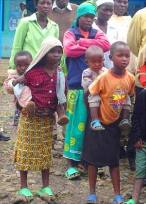 Rassemblement des Orphelins du sida au Point d'Ecoute de Gisenyi