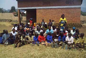 Rassemblement des orphelins du sida de la zone de Kanama