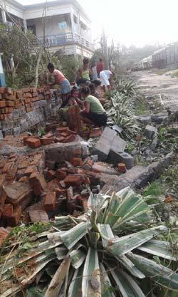Dégâts causés à Antalaha par le passage du cyclone Enawo sur Madagascar