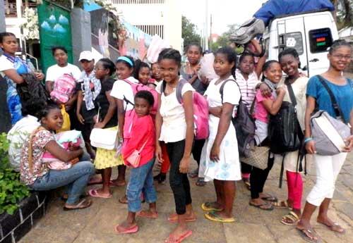 Départ en vacances pour nos orphelins de Madagascar