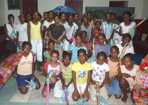Les enfants de l'orphelinat Sainte Marie